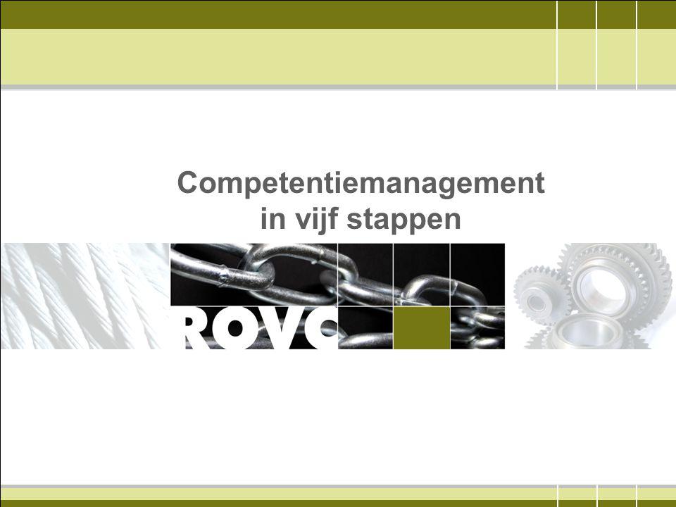 Voorbeeld wens versus werkelijke situatie Afwezige competenties Aanwezige competenties Hydrauliek Storingzoeken in hydraulische systemen Hydrauliek Storingzoeken in hydraulische systemen Elektrische systemen Storingsanalyse Elektrische systemen Storingsanalyse