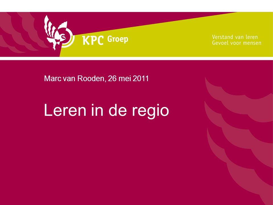 Leren in de regio Marc van Rooden, 26 mei 2011