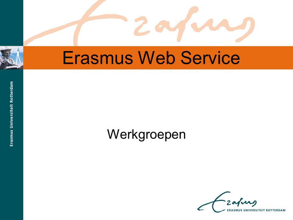 Erasmus Web Service Werkgroepen