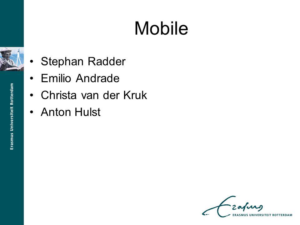 Mobile Stephan Radder Emilio Andrade Christa van der Kruk Anton Hulst