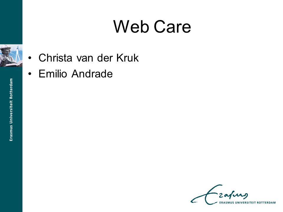 Web Care Christa van der Kruk Emilio Andrade