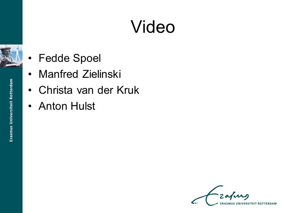 Video Fedde Spoel Manfred Zielinski Christa van der Kruk Anton Hulst