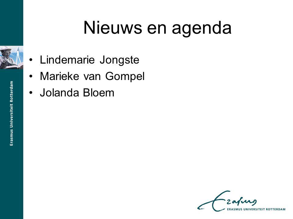 Nieuws en agenda Lindemarie Jongste Marieke van Gompel Jolanda Bloem