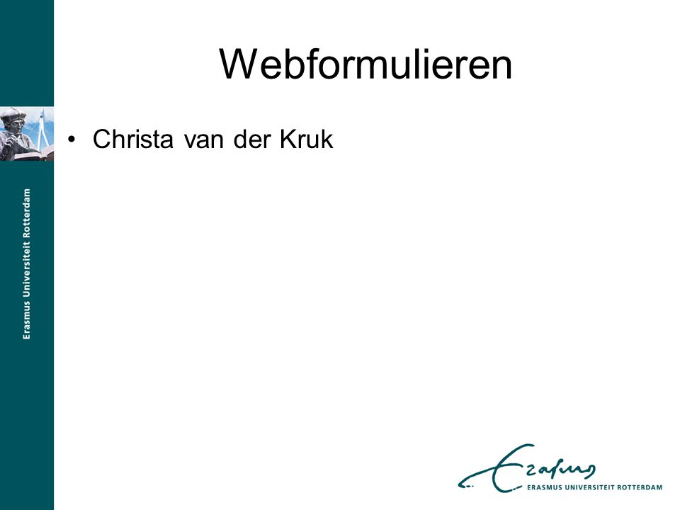 Webformulieren Christa van der Kruk