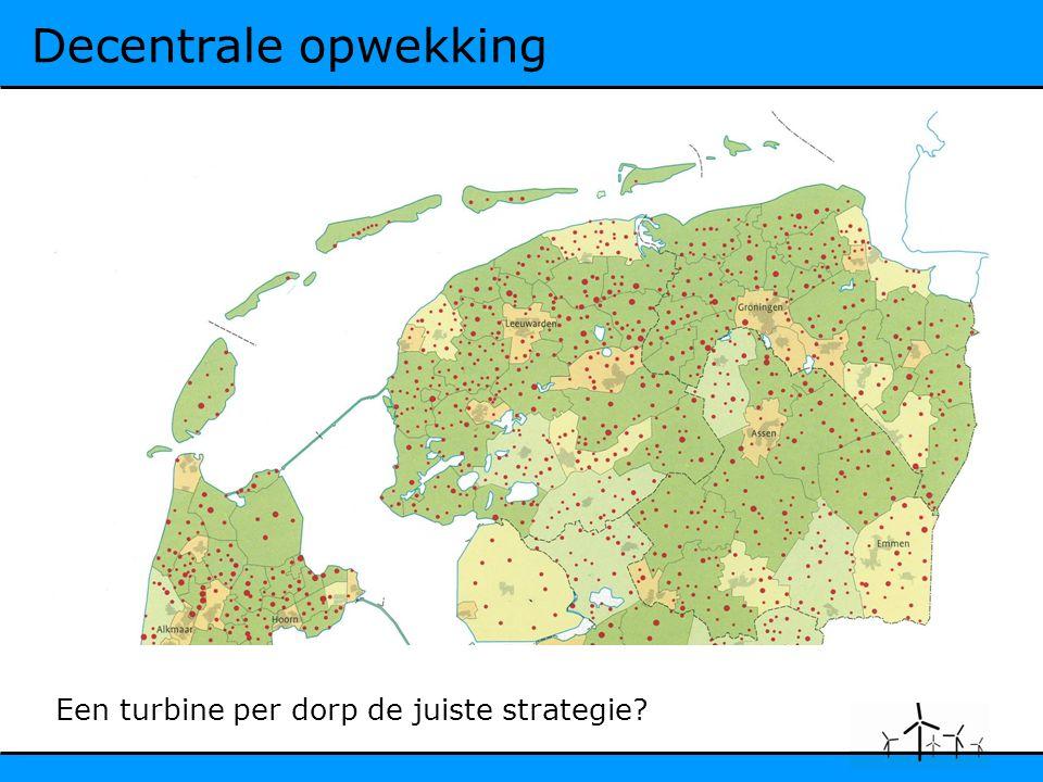 Decentrale opwekking Een turbine per dorp de juiste strategie?