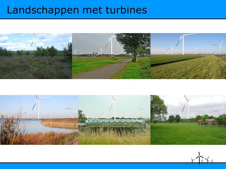 Landschappen met turbines