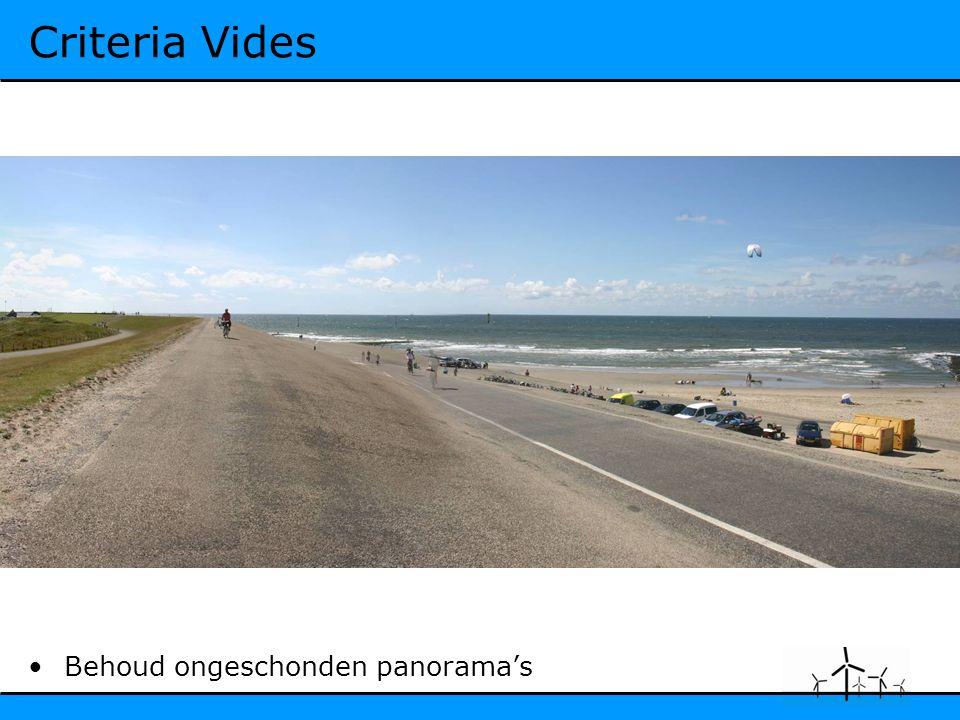 Criteria Vides Behoud ongeschonden panorama's