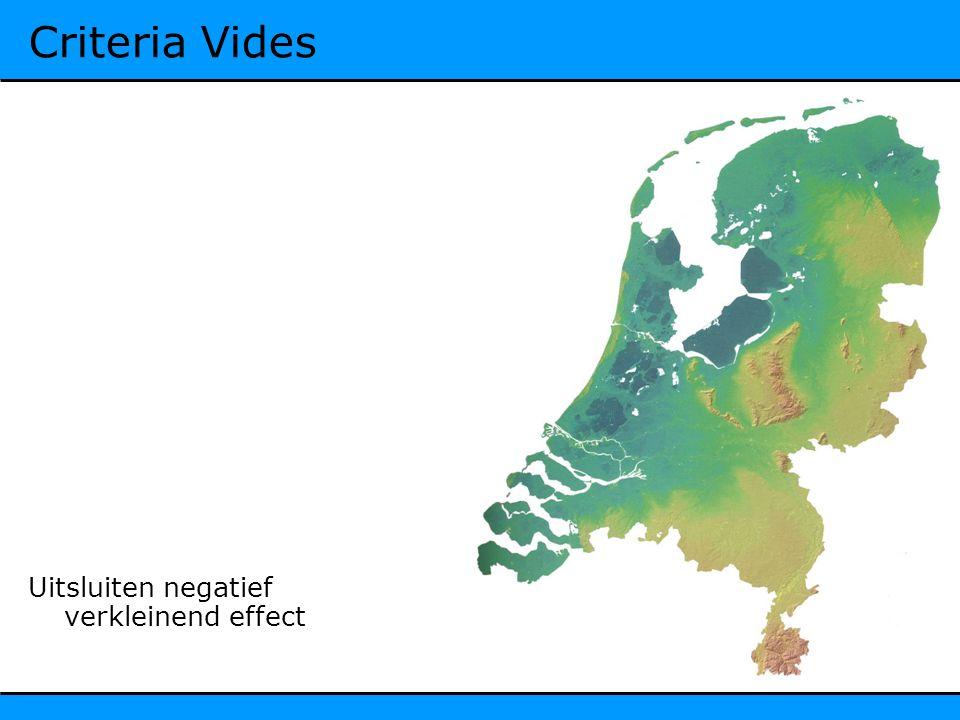 Criteria Vides Uitsluiten negatief verkleinend effect