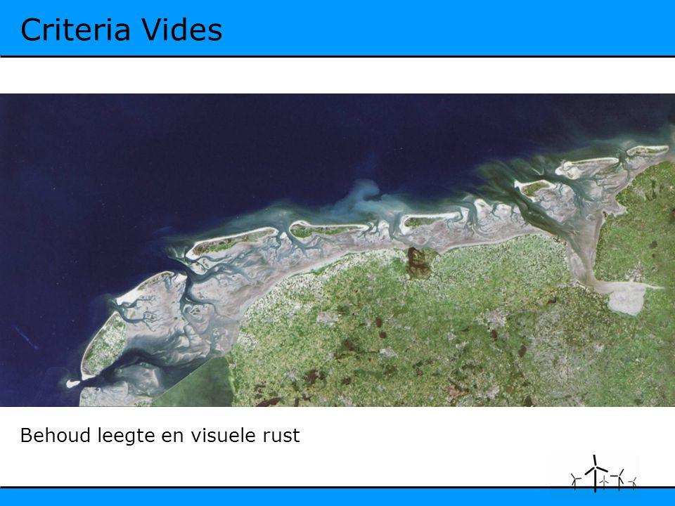 Criteria Vides Behoud leegte en visuele rust