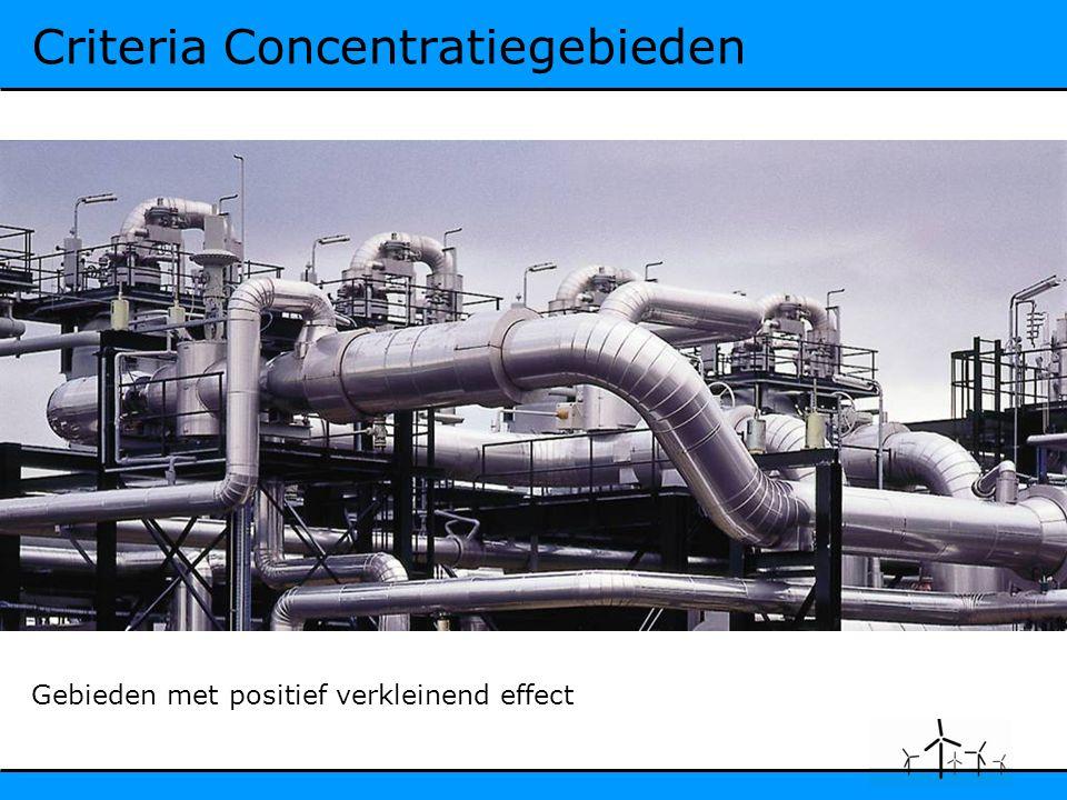 Criteria Concentratiegebieden Gebieden met positief verkleinend effect