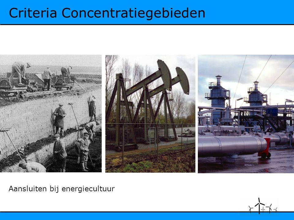 Criteria Concentratiegebieden Aansluiten bij energiecultuur