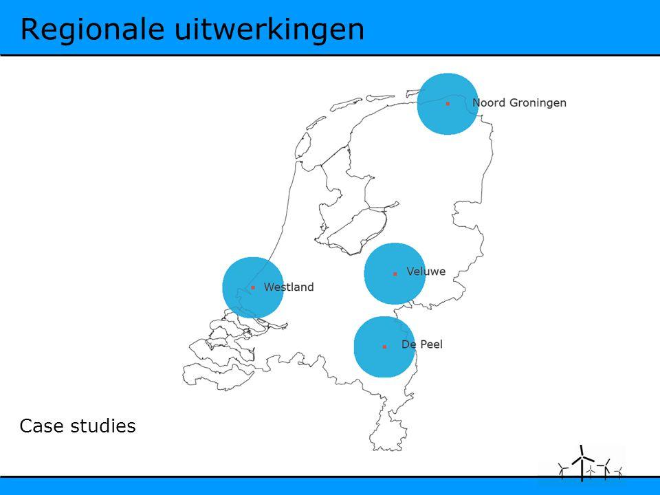 Regionale uitwerkingen Case studies