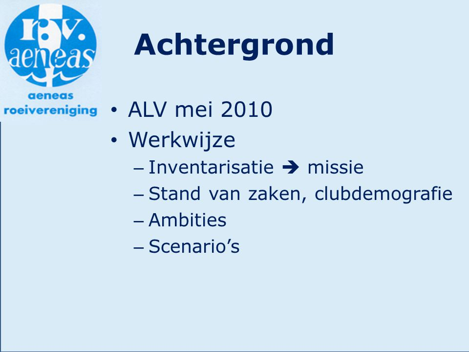 Accommodatie Ambitie 2020Wat is nodig.