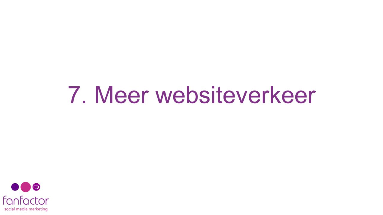 7. Meer websiteverkeer