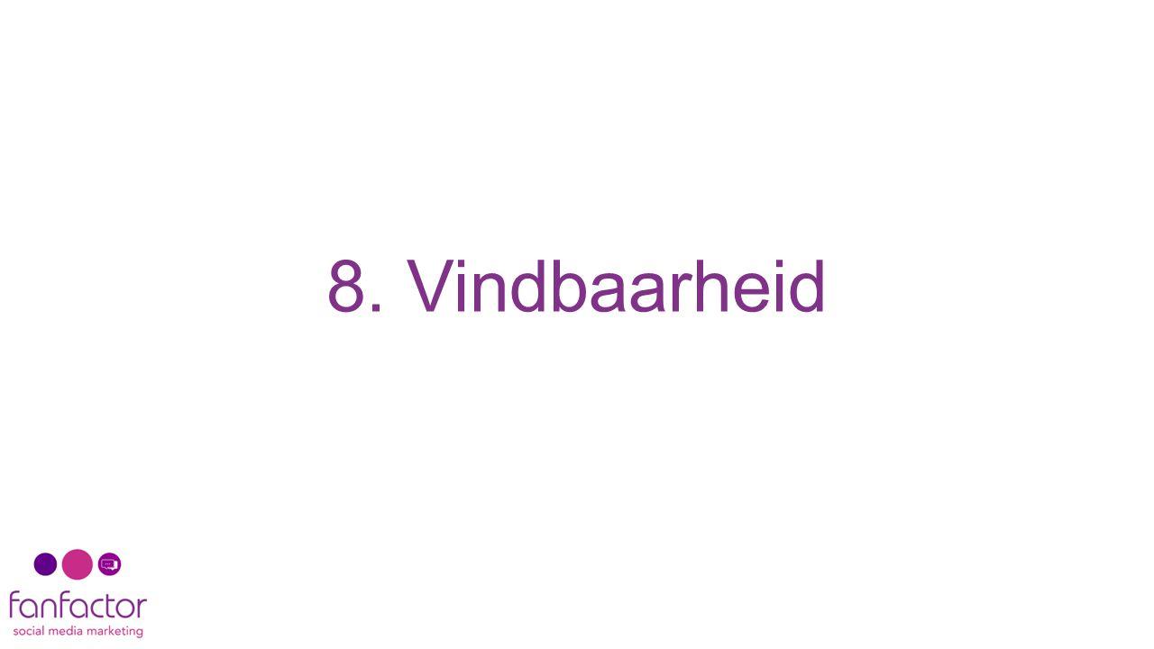 8. Vindbaarheid