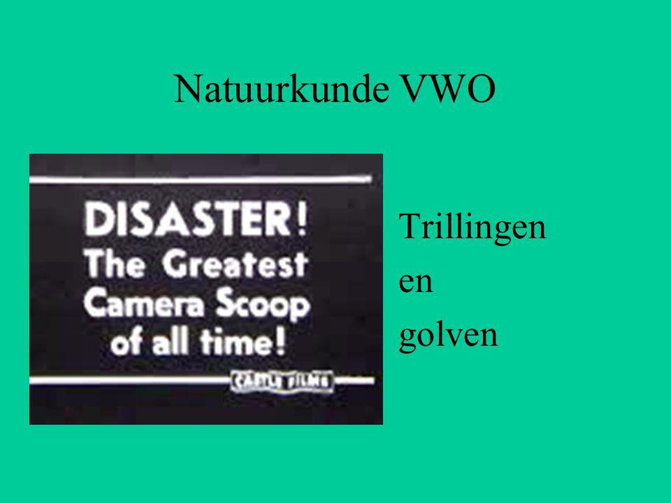 Natuurkunde VWO Trillingen en golven