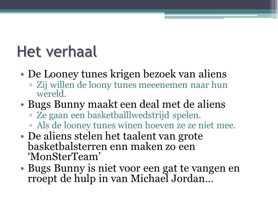 Het verhaal De Looney tunes krigen bezoek van aliens ▫Zij willen de loony tunes meeenemen naar hun wereld. Bugs Bunny maakt een deal met de aliens ▫Ze