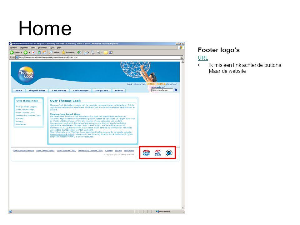 Home Footer logo's URL Ik mis een link achter de buttons. Maar de website
