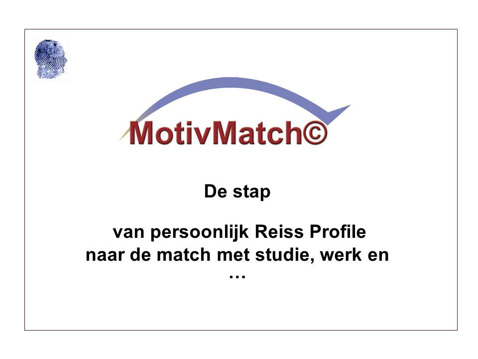 De stap van persoonlijk Reiss Profile naar de match met studie, werk en …