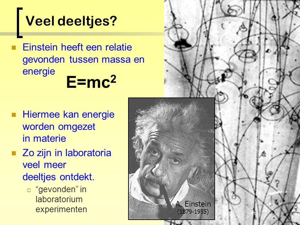 Elementaire spelers Quarks Leptonen 2/3 - 1/3 0 Proton: u + u + d quark, lading=1 Neutron: u + d + d quark, lading=0 Koolstof: 18 u 18 d 6 e - Elektri