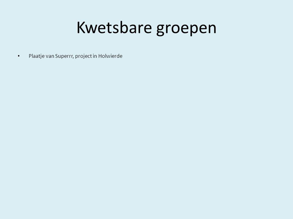 Kwetsbare groepen Plaatje van Superrr, project in Holwierde