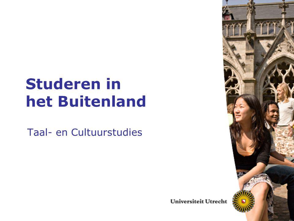 Studeren in het Buitenland Taal- en Cultuurstudies