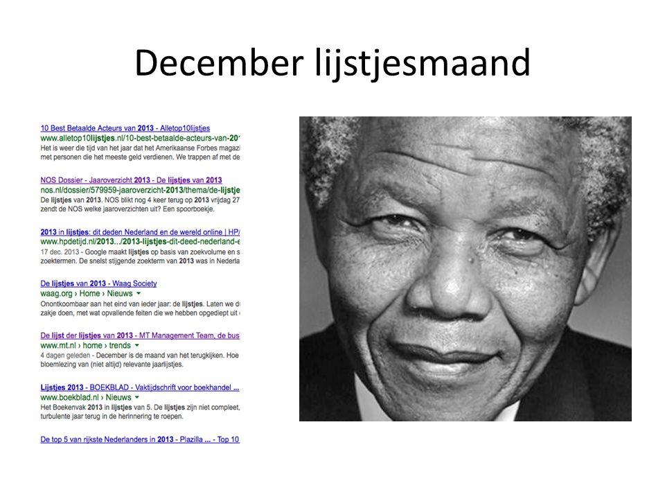December lijstjesmaand