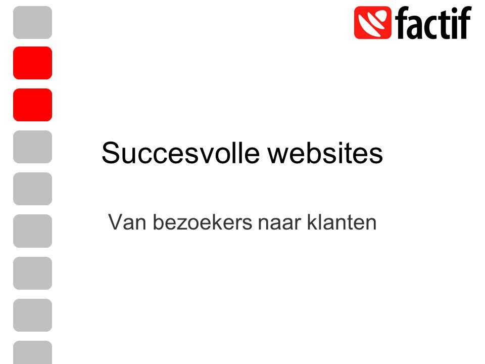 Succesvolle websites Van bezoekers naar klanten