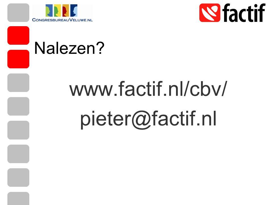 Nalezen? www.factif.nl/cbv/ pieter@factif.nl