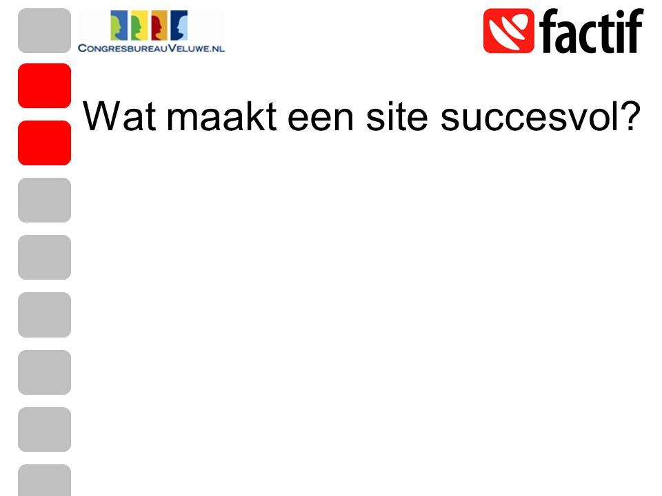 Wat maakt een site succesvol