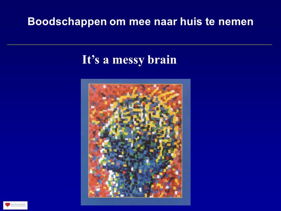 Boodschappen om mee naar huis te nemen It's a messy brain