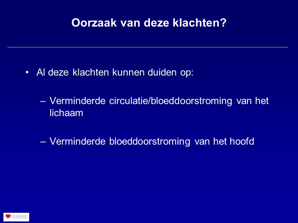 Berekening van de bloedstroom De bloedstroom is: oppervlakte van het bloedvat maal de stroomsnelheid Bloedstroom van de 4 slagaders opgeteld Normale bloedstroom naar het hoofd: 650 ml per minuut (13% van totale bloedstroom) Grote verschillen tussen mensen