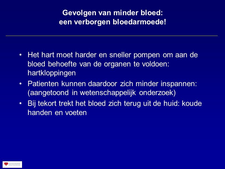 Bloedstroom naar het hoofd tijdens de kanteltafel test zonder afwijkingen van bloeddruk of pols