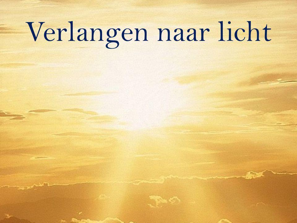Ik ben het Licht der wereld wie Mij volgt, zal beslist niet in de duisternis wandelen, maar zal het licht van het leven hebben. (Joh.