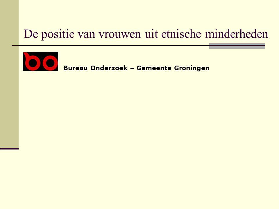 De positie van vrouwen uit etnische minderheden Bureau Onderzoek – Gemeente Groningen
