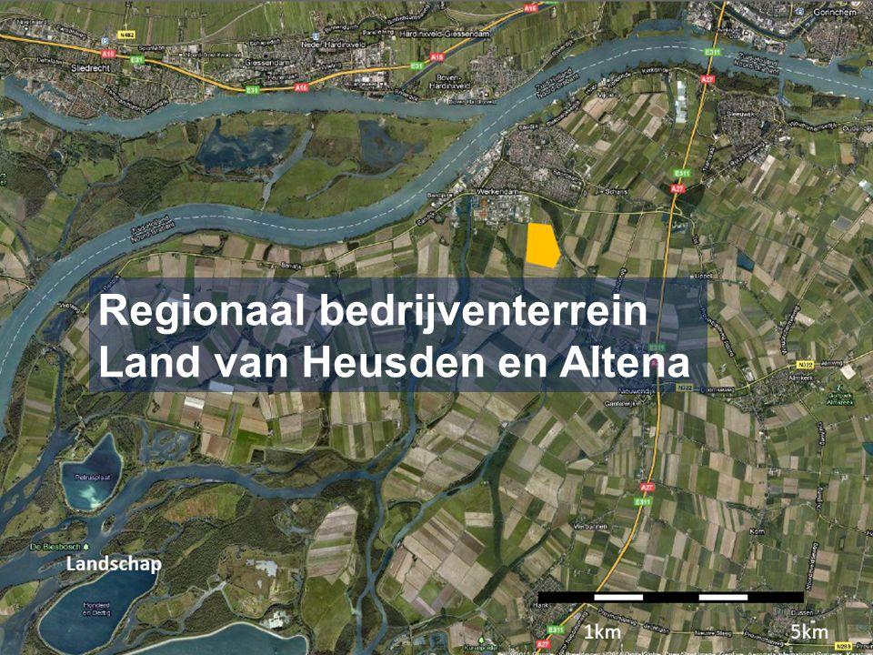 Samenwerkingsverband gemeenten Aalburg, Werkendam en Woudrichem (Regionaal ontwikkelingsbedrijf opgericht) Totale omvang bruto 45 hectare Twee fasen Primair voor bedrijven uit LvHeA > 5000 m2