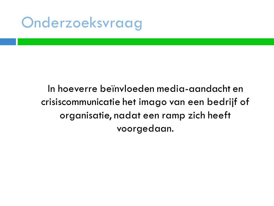 Variabelen  Ramp Definitie uit Wetboek Dichotoom gemeten  Crisiscommunicatie Kwantitatief meten, ratio, aantallen.