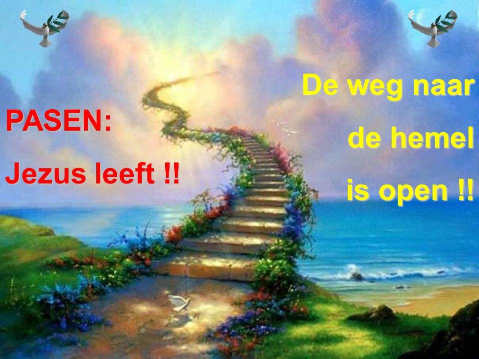 PASEN: Jezus leeft !! De weg naar de hemel is open !!