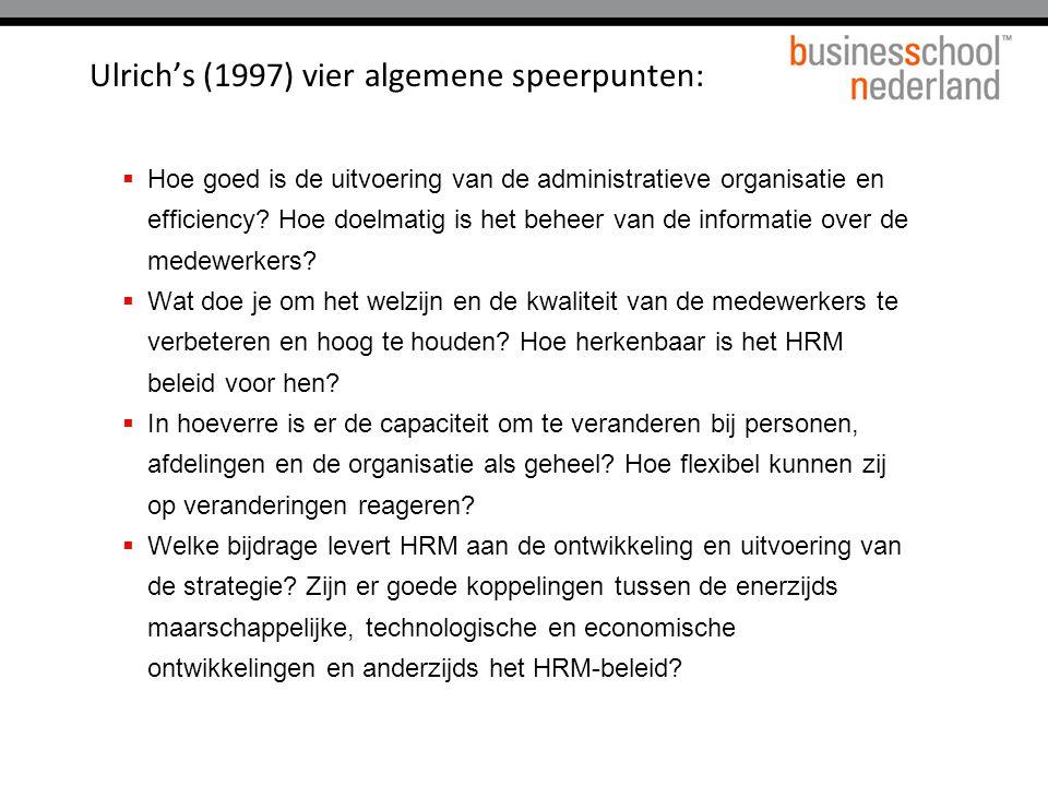  Hoe goed is de uitvoering van de administratieve organisatie en efficiency.