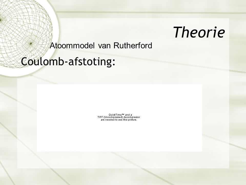 Theorie Coulomb-afstoting: Atoommodel van Rutherford