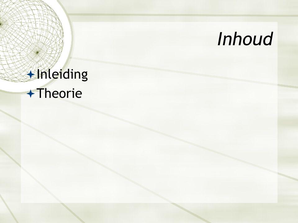 Inhoud  Inleiding  Theorie