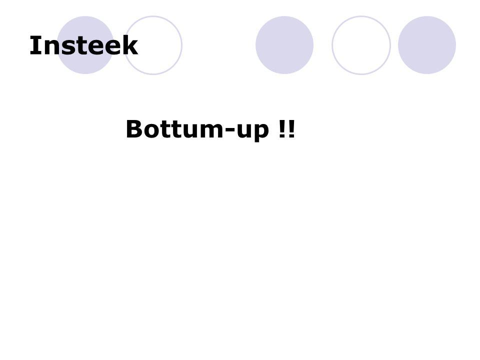 Insteek Bottum-up !!