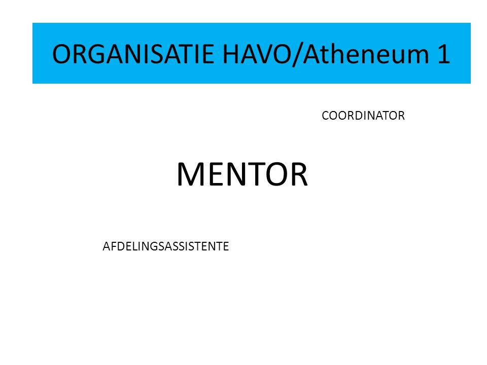 ORGANISATIE HAVO 2 COORDINATOR MENTOR AFDELINGSASSISTENTE ORGANISATIE HAVO/Atheneum 1