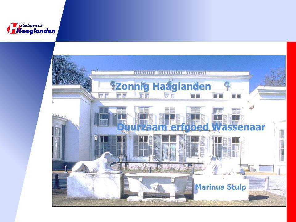 Zonnig Haaglanden Duurzaam erfgoed Wassenaar Marinus Stulp