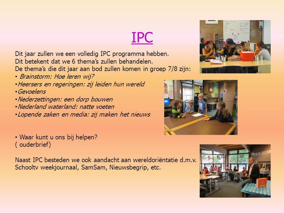 IPC Dit jaar zullen we een volledig IPC programma hebben. Dit betekent dat we 6 thema's zullen behandelen. De thema's die dit jaar aan bod zullen kome