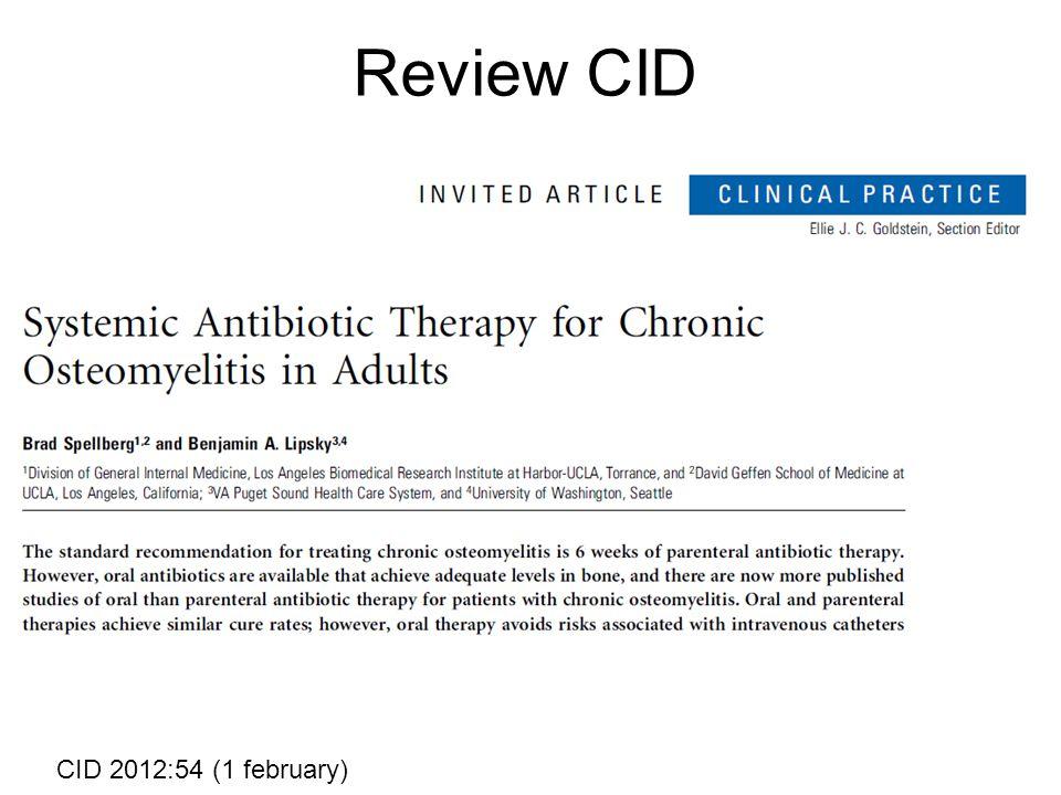 Review CID CID 2012:54 (1 february)