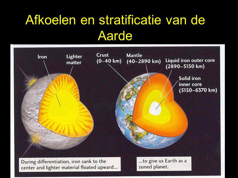 Afkoelen en stratificatie van de Aarde