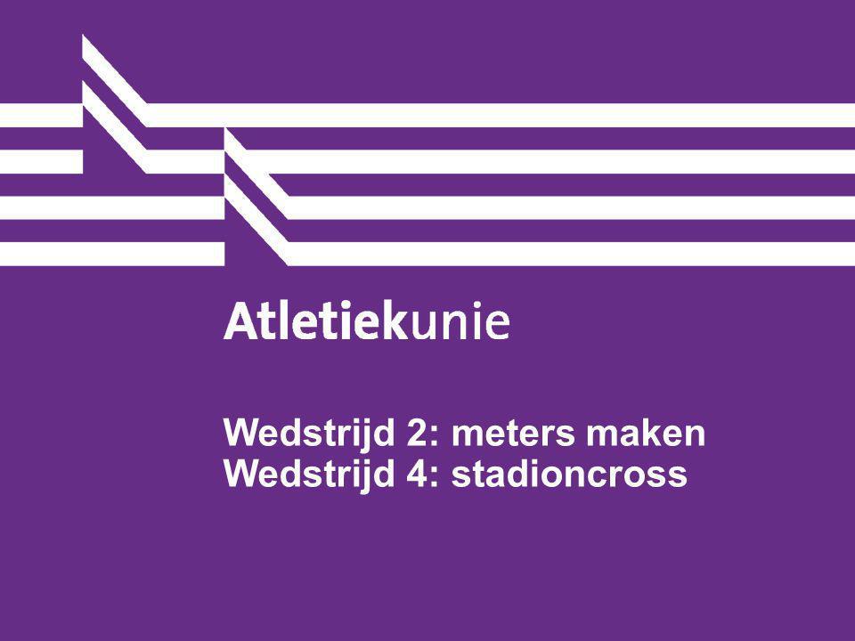 Atletiekunie15 2 series (4/6 min)2 startgroepen op kleur teambegeleider turft rondes Toeter.