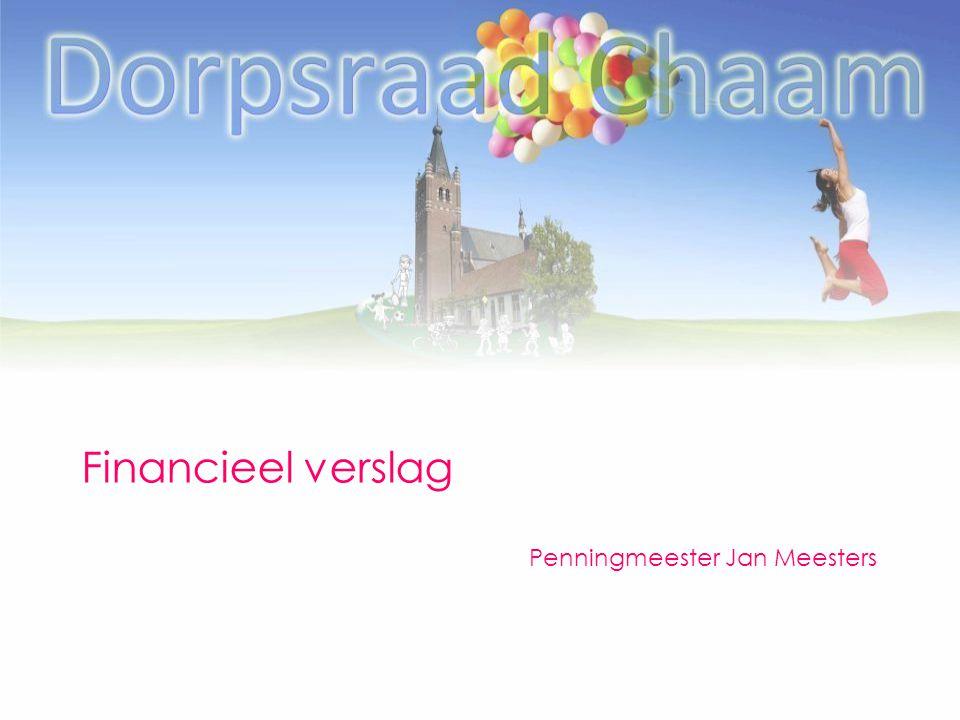 Financieel verslag Penningmeester Jan Meesters