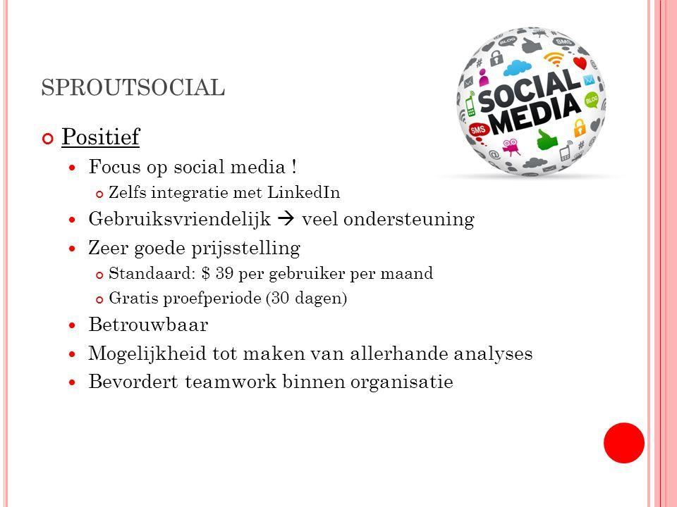 SPROUTSOCIAL Positief Focus op social media .